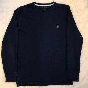 Ralph Lauren Polo long sleeve thermal in navy
